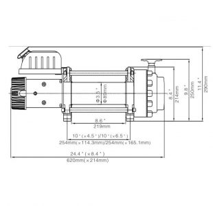 Electric Winch 17500 24V
