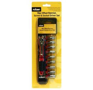 Offset Ratchet Screw & Socket Set