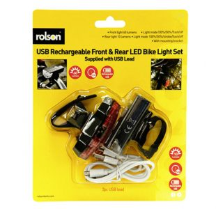 Front and Rear USB Bike Light