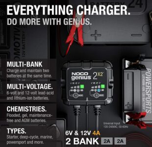 2-Bank Battery Charger – Maintainer and Desulfator