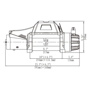 12V Electric Winch Synthetic Rope 9500lbs