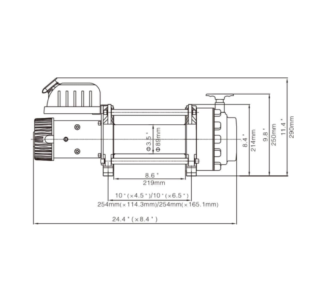 12V Electric Winch 20000lbs