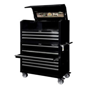 Tool trolley with top cabinet, broad » Toolwarehouse
