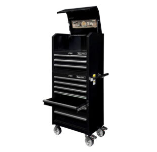 Tool trolley with top cabinet, narrow » Toolwarehouse