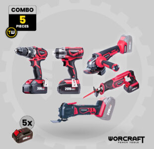 5pcs Power Tool Combo » Toolwarehouse » Buy Tools Online