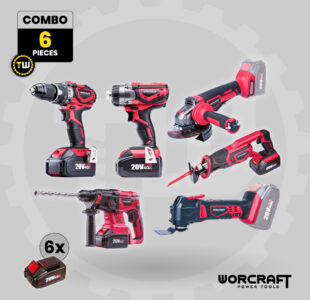 6pcs Power Tool Combo » Toolwarehouse » Buy Tools Online