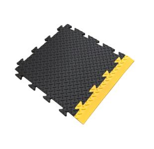 Heavy Duty Checker Plate PVC Tiles-16Pcs Set